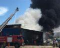 Ayakkabı fabrikasında yangın