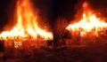 Çıkan yangın iki katlı evi küle çevirdi