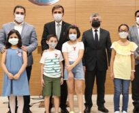 Şanlıurfa'da İstiklal Marşı yarışmasında, ödüller sahiplerini buldu