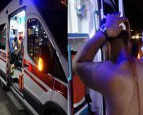 Yaralıyı ambulansta linç etmeye çalıştılar