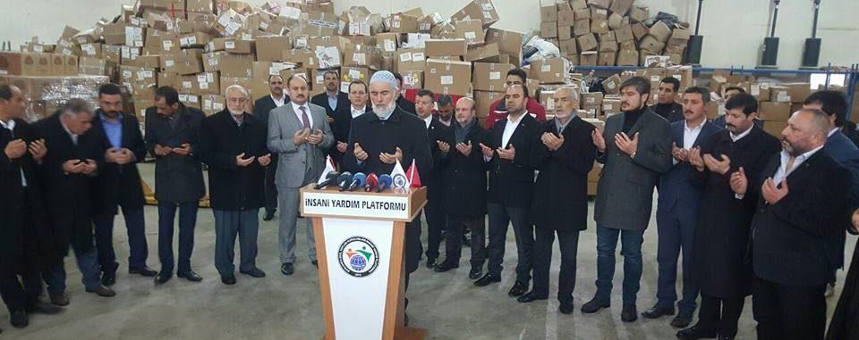 İnsani Yardım Platformu'ndan Afrin'e yardım eli